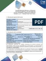 Guía de actividades y rúbrica de evaluación - Unidad 1, 2, 3 - Trabajo Final Post Tarea.docx