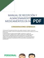 Manual de Recepción y Almacenamiento de Medicamentos En