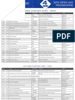 UCT 2019 Open Day Programme