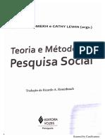 Teoria e Método Da Pesquisa Social - Trabalhando Com Literaturas - SOMEKH e LEWIN