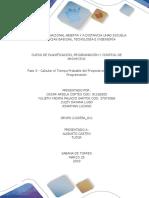 Anexo Fase 3 - Calcular El Tiempo Probable Del Proyecto en Función de Su Programación_Grupo_212055A_611
