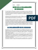 Antecedentes de La Dolarización en Ecuador