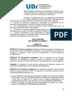 Reglamento Estudiantil UDI 2010 - Situación Académica