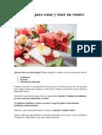 9 Alimentos Para Un Vientre Plano