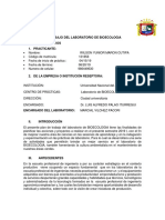 Plan de Trabajo Del Laboratorio de Bioecologia