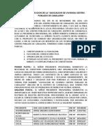 Acta de Constitucion de La Asociacion de Vivienda Centro Poblado de Caballero