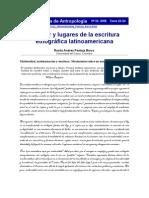 El lugar y lugares de la escritura etnografica latinoamericana - Rosita Pantoja