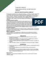 DIFERENCIAS Y SEMEJANZAS ENTRE LOS MÉTODOS DE INVESTIGACIÓN JURÍDICA.docx