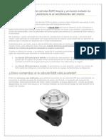 El mantenimiento de la válvula EGR y la potencia del motor.docx