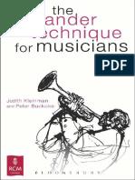 KLEINMAN, Judith e Buckoke,Peter - The Alexander Technique for Musicians.pdf