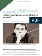 """_Posada_ """"Las Orquestas Son Un Reflejo de La Sociedad"""""""