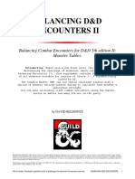 Balancing D&D Encounters II Monster Tables