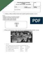 Evaluación de Historia Planos