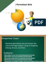 Luas Permukaan Bola