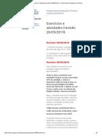 Exercícios e Atividades (Revisão 26-03-2019) - Fundamentos de Máquinas Térmicas