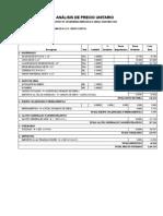 Formato de Analisis de Precios Unitarios