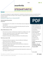 FOCUS on Osteoarthritis - American Pharmacists Association