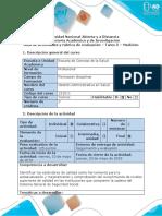 Guía de Actividades y Rúbrica de Evaluación - Tarea 5 - Medición