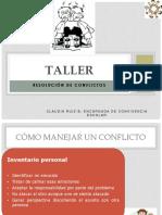 TALLER N°1 RESOLUCION DE CONFLICTOS