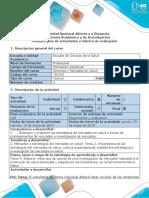 Guía de Actividades y Rubrica de Evaluación - Tarea 4 - Elaborar Vídeo de Investigación de Mercados