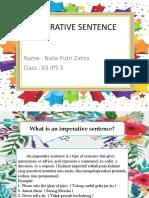 Imperative Sentence Bahasa Inggris