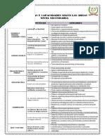 Áreas,Competencias y Capacidades Secundaria