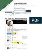 LinkediN Recommendation Steps