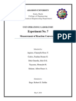 Experiment No. 7 Measurement of Reaction Conversion