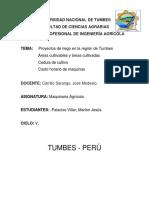 Proyectos de Riego en La Región de Tumbes