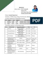 Vasumathi D Profile