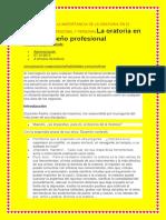 Monografia de La Importancia de La Oratoria en El Desarrollo Profesional y Personalla Oratoria en El Desempeño Profesional