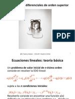 Ecuaciones Diferenciales Orden Superior
