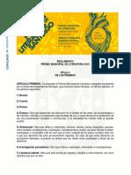 Bases Premio Municipal de Literatura 2019