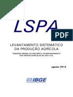 LEVANTAMENTO SISTEMÁTICO DA PRODUÇÃO AGRÍCOLA -2013