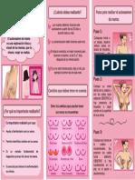 triptico examen de mama