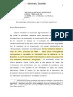 Neufeld 2009 - Antropología y Educación en El Contexto Argentino