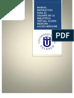 Manual Instructivo Para El Usuario Access Medicine