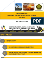Ditjen Minerba ESDM - Implementasi Sistem MOMS