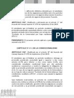 Reglamento Pregrado Uis - De La Condicionalidad