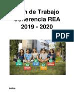 Plan de Trabajo Rea 2019 - 2020