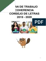 Plan de Trabajo - Coherencia Al Consejo de EE.GG.LL 2019-2020