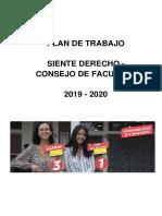 Plan de Trabajo Siente Derecho Consejo de Facultad de Derecho 2019 - 2020 (1)