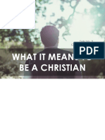 CLP Talk 3 What it Means to be a Christian