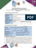Guía de Actividades y Rúbrica de Evaluación - Fase 5 - Diseño Curricular