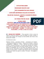 Lista DOS ORIXAS Atualizada 2015 II Dario