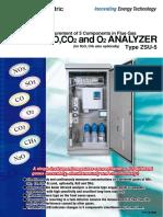 Zsu Nox,So2,Co,Co2,o2 Gas Analyzer Zsu