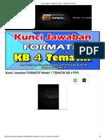 Kunci Jawaban Formatif Modul 1 Tematik Kb 4 Ppg
