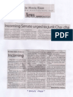 Manila Times, May 20, 2019, Incoming Senate urged to junk Cha-cha.pdf