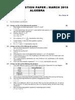 Ssc 2015 March Algebra