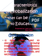 Characteristics of Globalization That Can Be Linked to Education